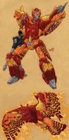 Beast Wars Rodimus - Phoenix by Heatherbeast