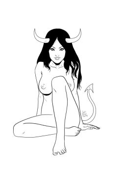 Devil girl by Phleitodactilo