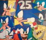 Sonic the Hedgehog 25th Anniversary Poster by Sonicgirlfriend65