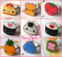 Cute ring collection -new- by CherryAbuku