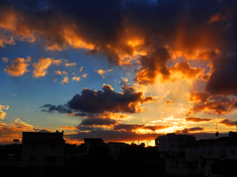 Cloudy Sunset in Cyprus -3- by IoannisCleary
