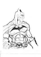 Batman- inks by Blaze-Belushi