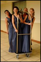 Trolley of bridesmaids by wildplaces