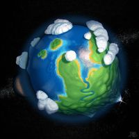 Earth-like planet by Lelek1980