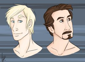 Tony and Jarvis by AshinGale-Effect