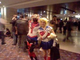 Sailor Deadpool and Sailor moon by MasterSaruwatari