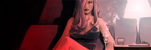 Pulp crime noir comics banner for Blastoff Comics by elena-casagrande