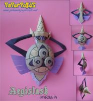 Aegislash Papercraft by xDCosmo
