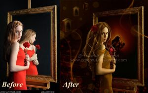 Belle-Before and After by areemus