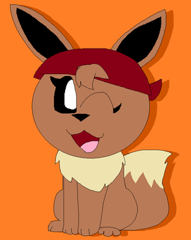 Scruffy the eevee by LisaDots123
