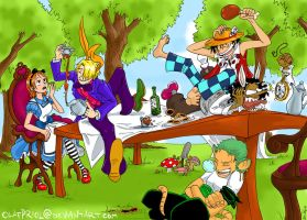 One Piece- A Mad Tea Party by olafpriol