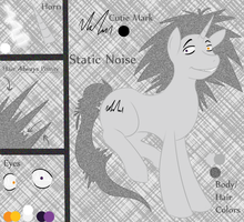 Static Noise Ref Sheet by AnxiousShadowPetals