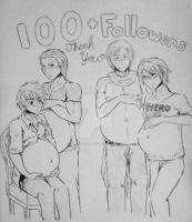 100 Followers by GilbertBraginskiIII