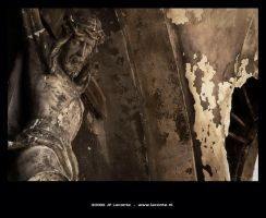 Old Jesus statue by Leconte