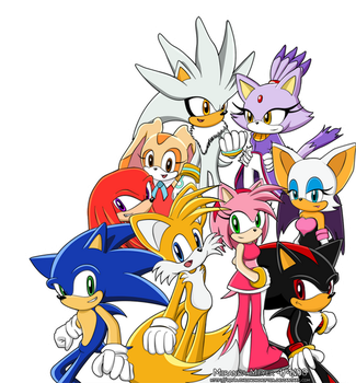 Sonic Gang by TheSnowDrifter