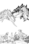 Rathalos and Rathian by TheMacronian
