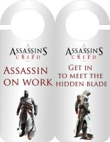 Assassin's Creed Door hanger by LuciRamms