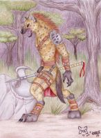 Werok Gnoll Warrior - Colour by Korrok