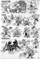 Black-Shocker kaijin-ideas pt1 by Kainsword-Kaijin