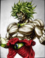 Broly Colour drawing by hovsec by Shane000