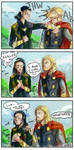 Loki Breaks His Wrist Oh Thors Face by nnaj