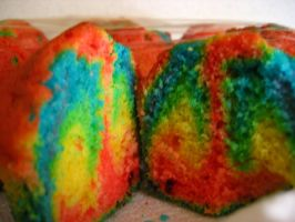 Psychedelic Cupcakes by clare-ironbrook