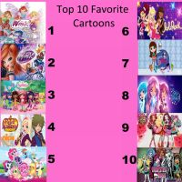 Top 10 Favorite Cartoons (updated) by sharpclap290