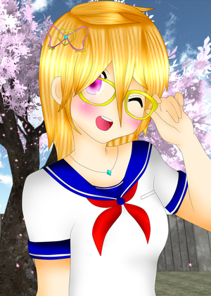 Himedere-chan (Yandere simulator) by Catherine-Caty