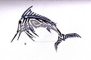 Marlin Tribal by Skrayle