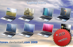 Laptop icons 1 in .ico by tonev