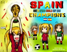 Spain World Cup 2010 Champion by EV133