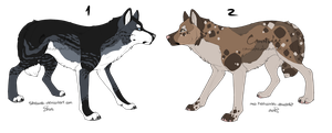 .: Wolf Adoptables :. [OPEN] by Cannidae