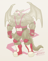 Gray Luchador by OutLeaf