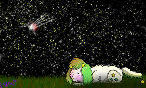 Sleeping Underneath the Stars -Commission- by Schuffles
