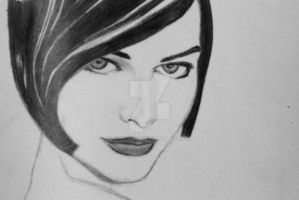 Milla Jovovich by aplchry