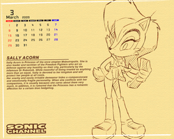 S.C. Penciled Sally Wallpaper by sally-acorn-fans