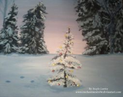 Little Tree Christmas/Winter Painting by Enchantments94
