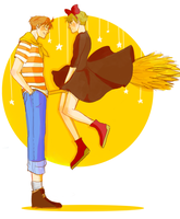 USUK X Ghibli: Arthur's Delivery Service by amewica
