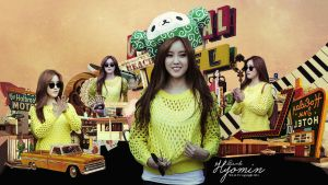Hyomin T-Ara Vintage Wallpaper by Chocoshim