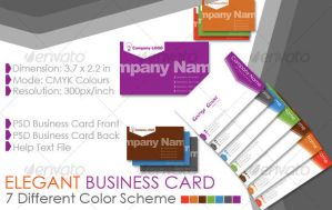 Elegant Business card template by kh2838