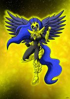 Sinestro Corps Princess Luna 2 by Berty-J-A
