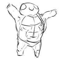 Beefy Squirtle by artofguy