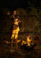 By the campfire by Manu-W