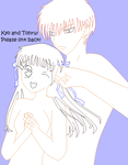 Couple Base 2 - Kyo and Tohru by Frillionaire