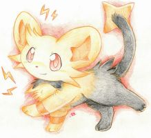 Shiny Shinx for TGuyCool~ by foreverbluejeans