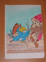 Pirate Coloring Book Page 1 by strangelittleimp