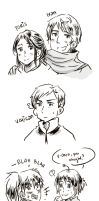 PM and Hetalia sketch by Durch-Leiden-Freude