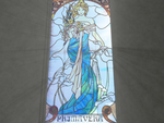 Alfons Mucha - Stained Glass Spring by Shindeor