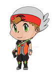 Pkmn OR Trainer Rudy Chibi by Lordy-Oh