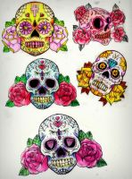 Sugar Skull and roses by CalebSlabzzzGraham